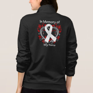 Nana - In Memory Lung Cancer Heart Printed Jackets