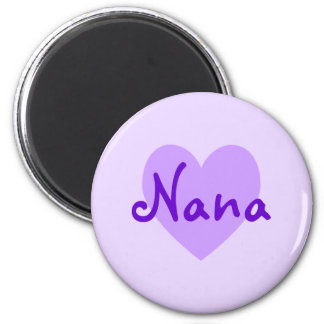 Nana in Purple 2 Inch Round Magnet