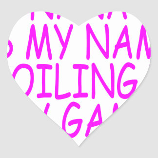 nana is my name spoiling is my game heart sticker