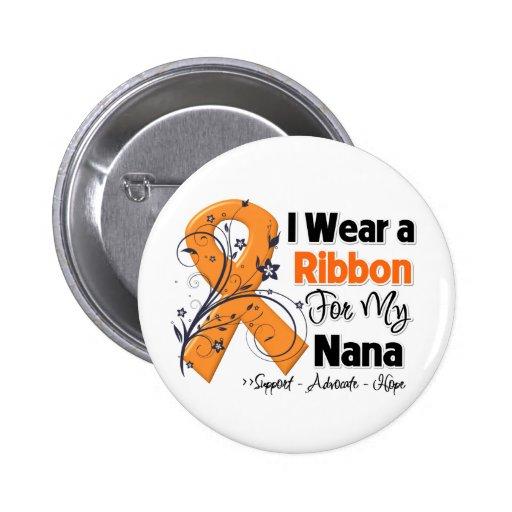 Nana - Leukemia Ribbon Pinback Buttons