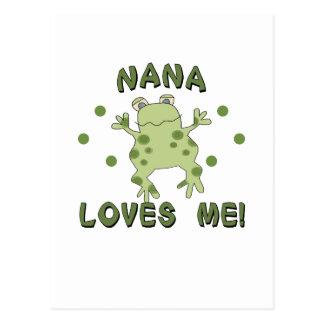 Nana Loves Me Frog Postcard
