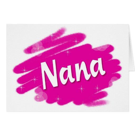 Nana Loves Pink Greeting Card