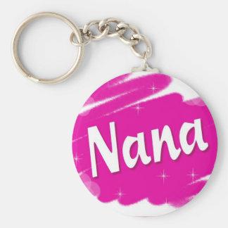 Nana Loves Pink Basic Round Button Keychain
