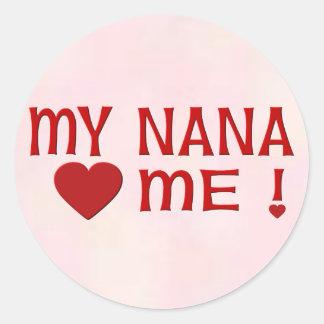 Nana me ama pegatinas redondas