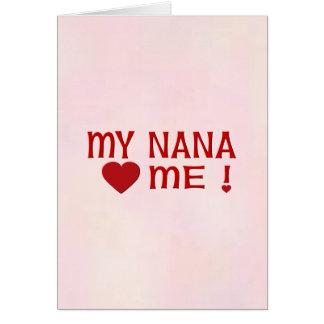 Nana me ama tarjeton