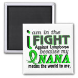 Nana Means The World To Me Lymphoma Fridge Magnets