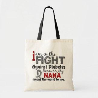 Nana Means World To Me Diabetes Tote Bags