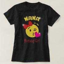 Nana of the Birthday Girl Emoji Birthday Party T-Shirt