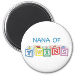 Nana of Twins Blocks Fridge Magnets