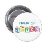 Nana of Twins Blocks Pinback Buttons