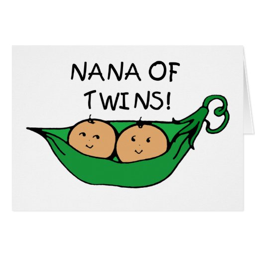 Nana of Twins Pod Greeting Card