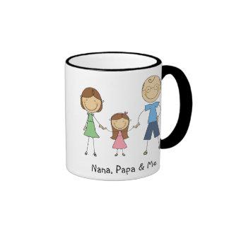 Nana Papa and Me Mug