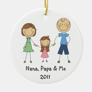 Nana Papa and Me Ornament
