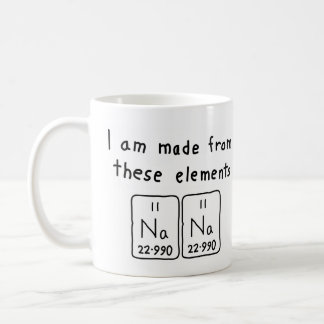 Name spelled with chemical elements coffee travel mugs zazzle nana periodic table name mug urtaz Gallery
