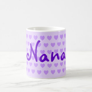 Nana personalizada en púrpura taza clásica
