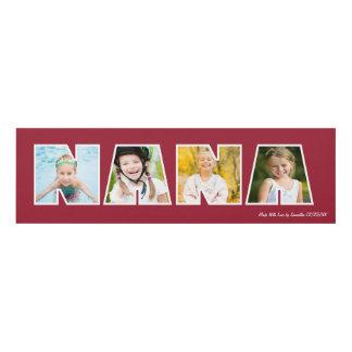 NANA Photo Frame Gift- Red Panel Wall Art