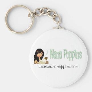 Nana Poppins Promos Basic Round Button Keychain