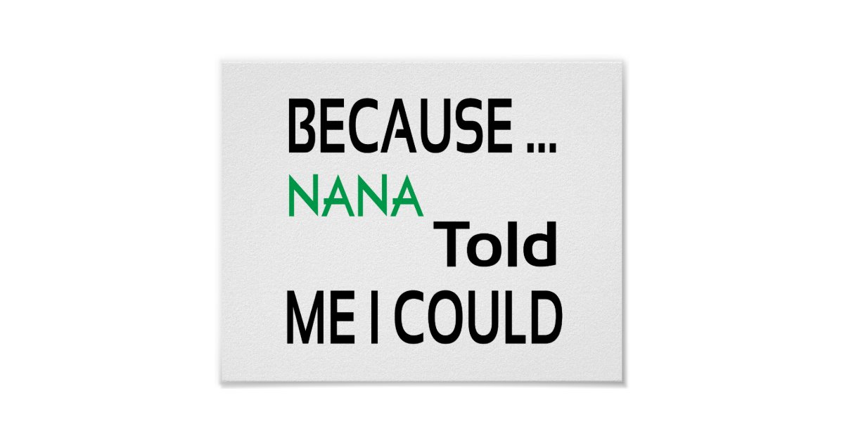 nana poster standard picture frame size zazzle