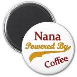 Nana Powered By Coffee Fridge Magnet