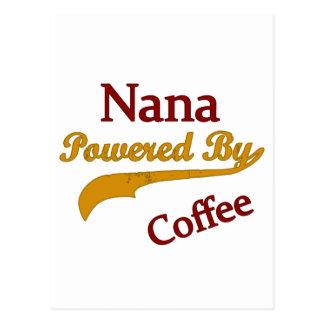 Nana Powered By Coffee Postcard