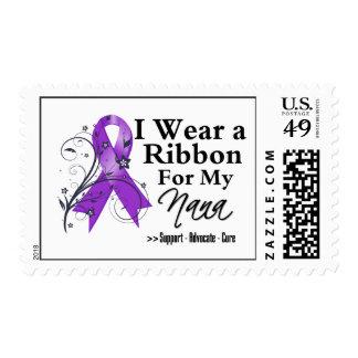 Nana Purple Ribbon - Pancreatic Cancer Postage Stamp