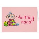 Nana que hace punto felicitacion