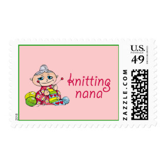 Nana que hace punto sellos