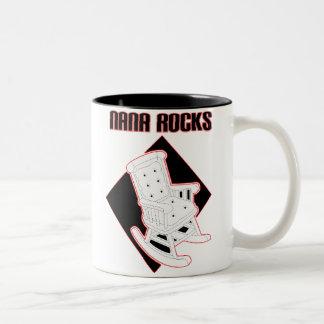 Nana Rocks Two-Tone Coffee Mug