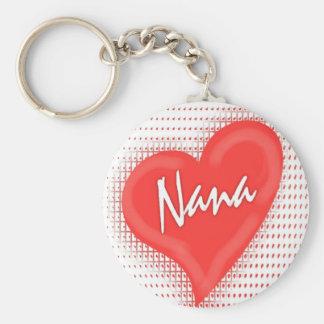 Nana`s Heart Basic Round Button Keychain