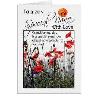 Nana, tarjeta del día de los abuelos - amapolas sa