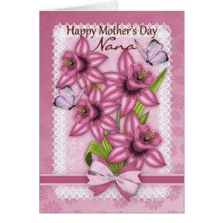 Nana, tarjeta del día de madre con los narcisos