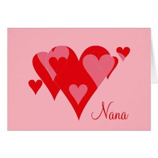 Nana Valentine Hearts Card by Janz