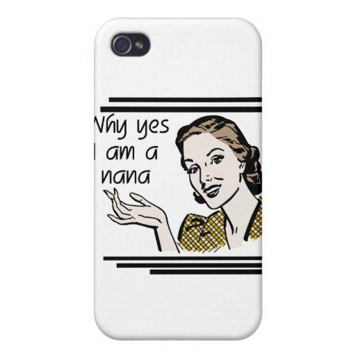 Nana y regalos retros iPhone 4 funda