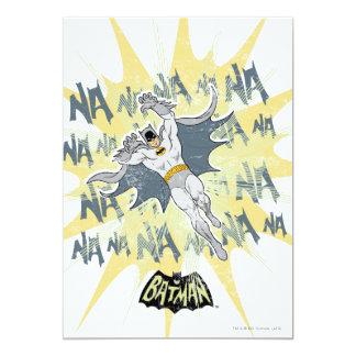 """NANANANANANA Batman Graphic 5"""" X 7"""" Invitation Card"""