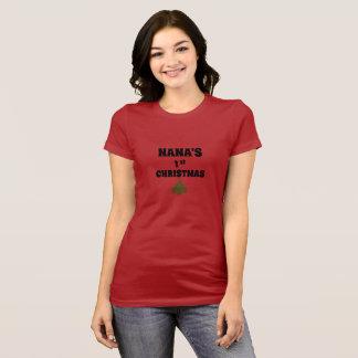 Nana's 1st Christmas t-shirt