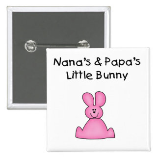 Nana's and Papa's Little Bunny T-shirts and Gifts Button