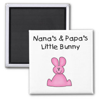 Nana's and Papa's Little Bunny T-shirts and Gifts Fridge Magnet