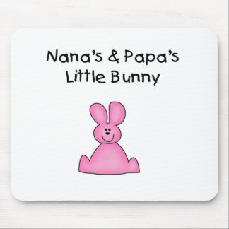 Nana's and Papa's Little Bunny T-shirts and Gifts Mouse Pad