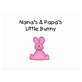Nana's and Papa's Little Bunny T-shirts and Gifts Postcard