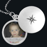 "Nana's Angel Round Personalized Locket<br><div class=""desc"">Size: Medium Keep your favorite image, design, or words of inspiration close your heart with this beautiful round silver plated locket. Complete with a 18"" silver plated chain (2"" extender) and lobster claw clasp, this necklace is finished with a UV resistant and waterproof coating to protect your imagery for years...</div>"