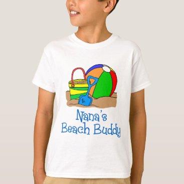 Beach Themed Nana's Beach Buddy T-Shirt