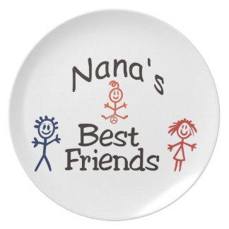 Nanas Best Friends Melamine Plate