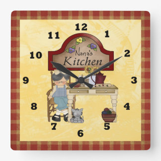 Nana S Country Kitchen Clock