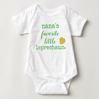nana's favorite little leprechaun. baby bodysuit