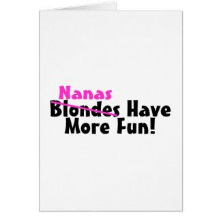 Nanas Have More Fun Pink Card