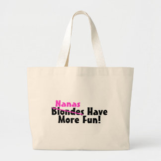 Nanas Have More Fun Pink Large Tote Bag
