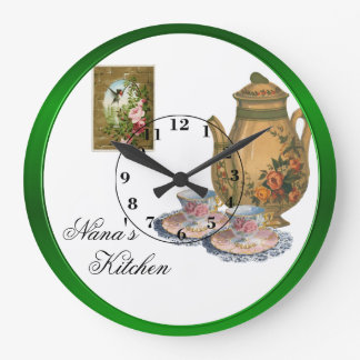Nana's Kitchen Large Clock