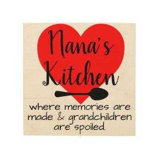 nana's kitchen wood wall art