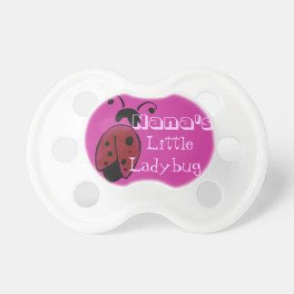 Nana's little ladybug pacifier