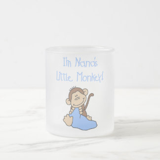 Nana's Little Monkey - Blue Tshirts and Gifts Frosted Glass Coffee Mug